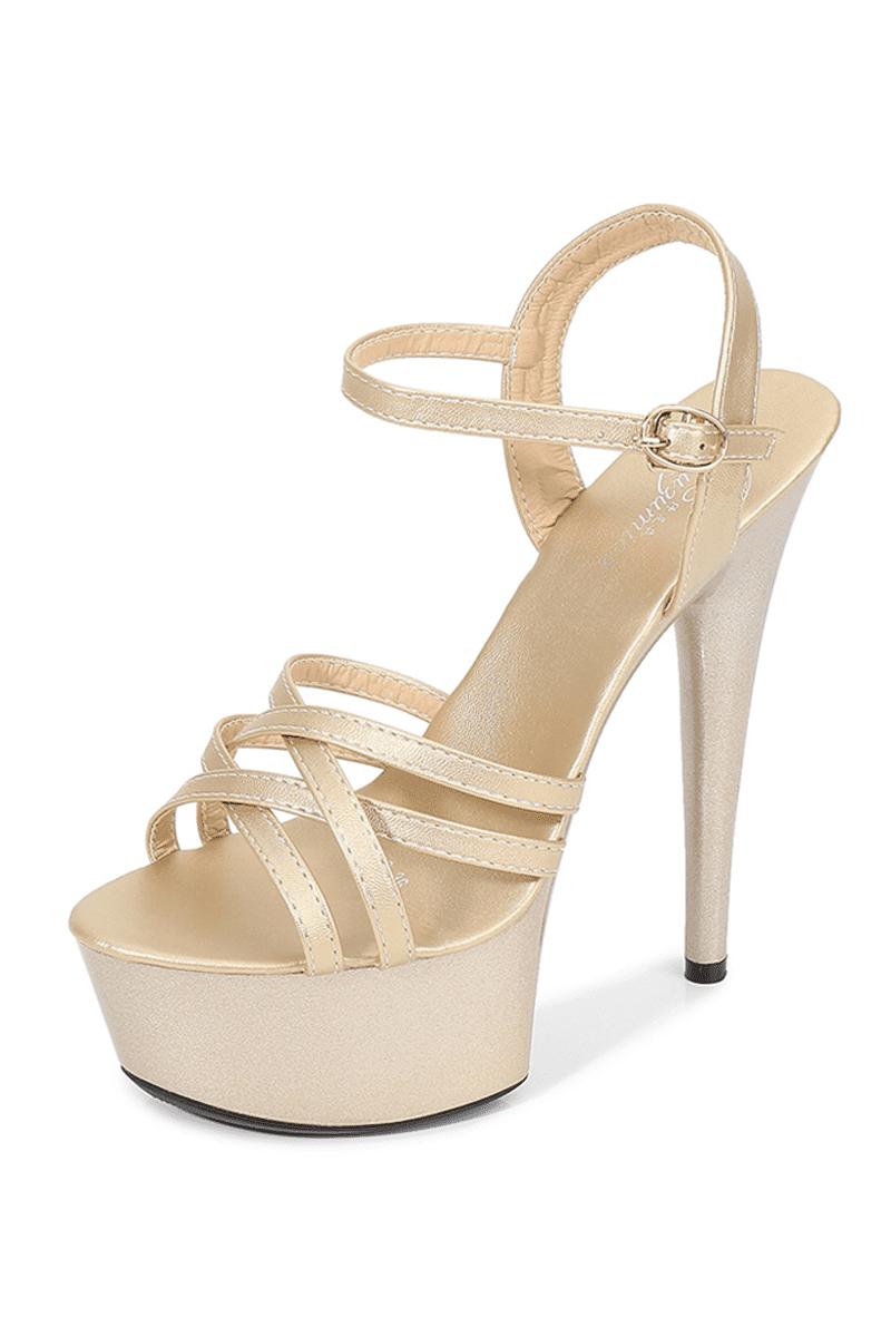 Heiße High Heels Gold-01