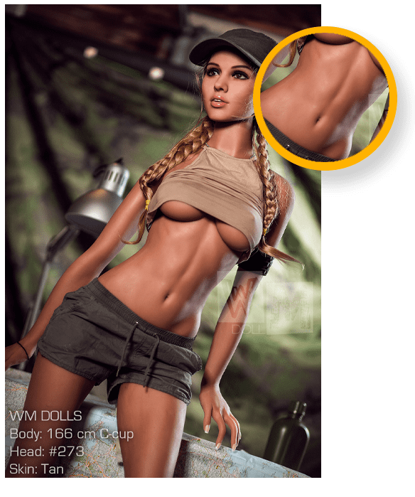 Schlanke-athletische-Sex Doll-Details