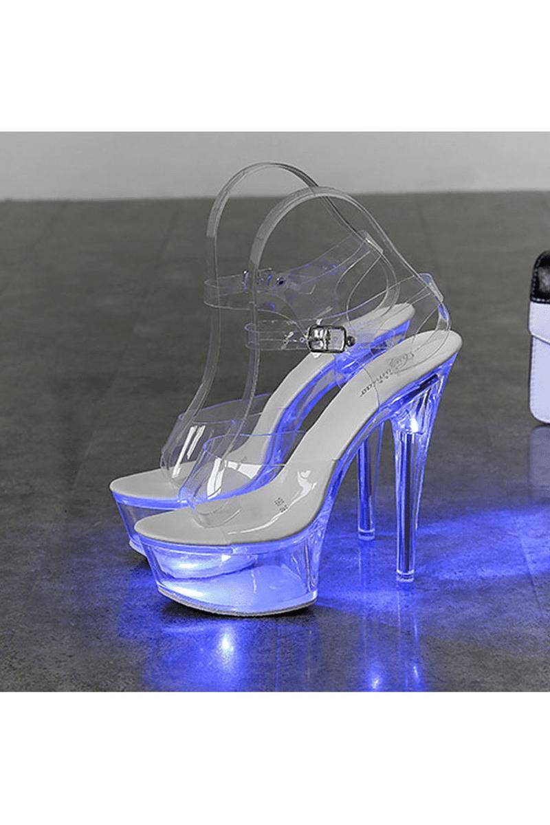 Transparente High Heels mit Leuchtfunktion