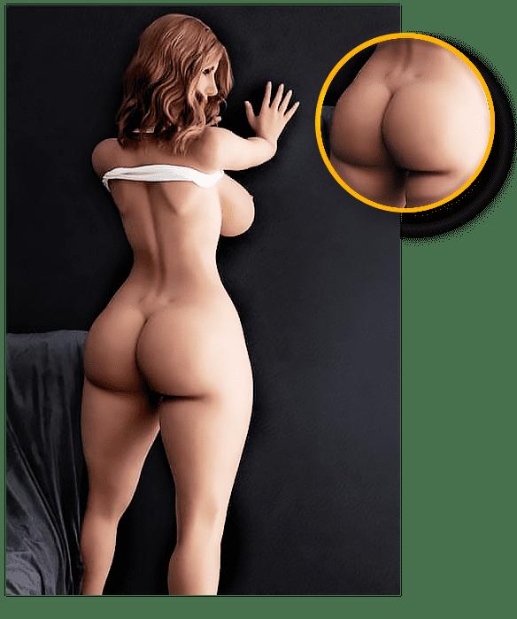Sexpuppe mit sehr großem Po realistische Details