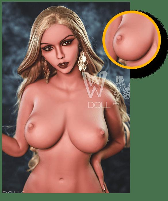 Weibliche und Kurvige Sex Doll ausgearbeitete Details
