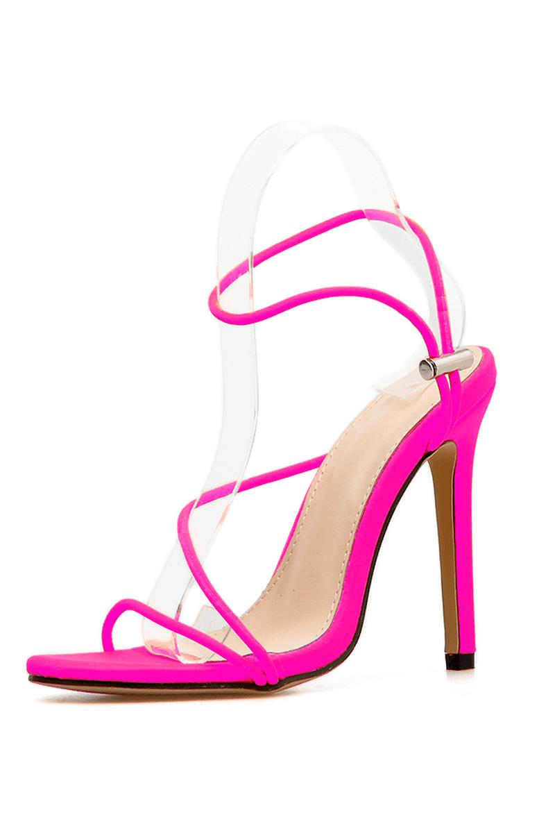 Aufregende High Heels in knalliger Farbe-01