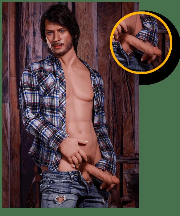 Männliche Sexpuppen Penis-Details