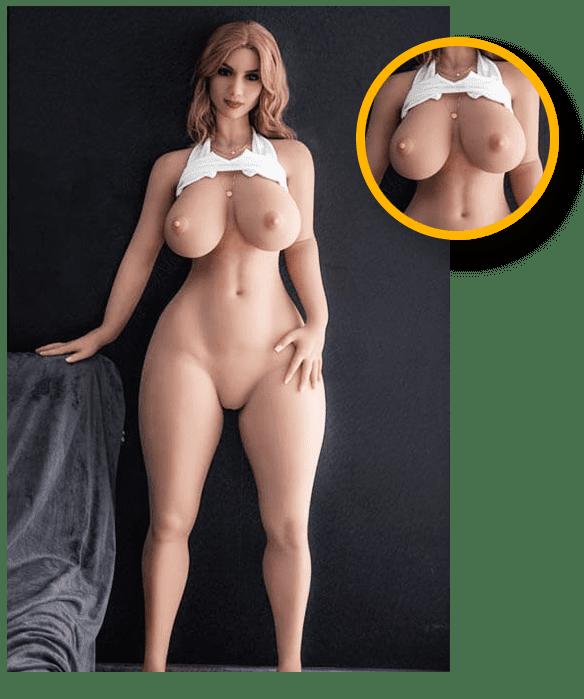 Mollige-und-Dicke-Sexpuppe-Detailliertes Dekolleté