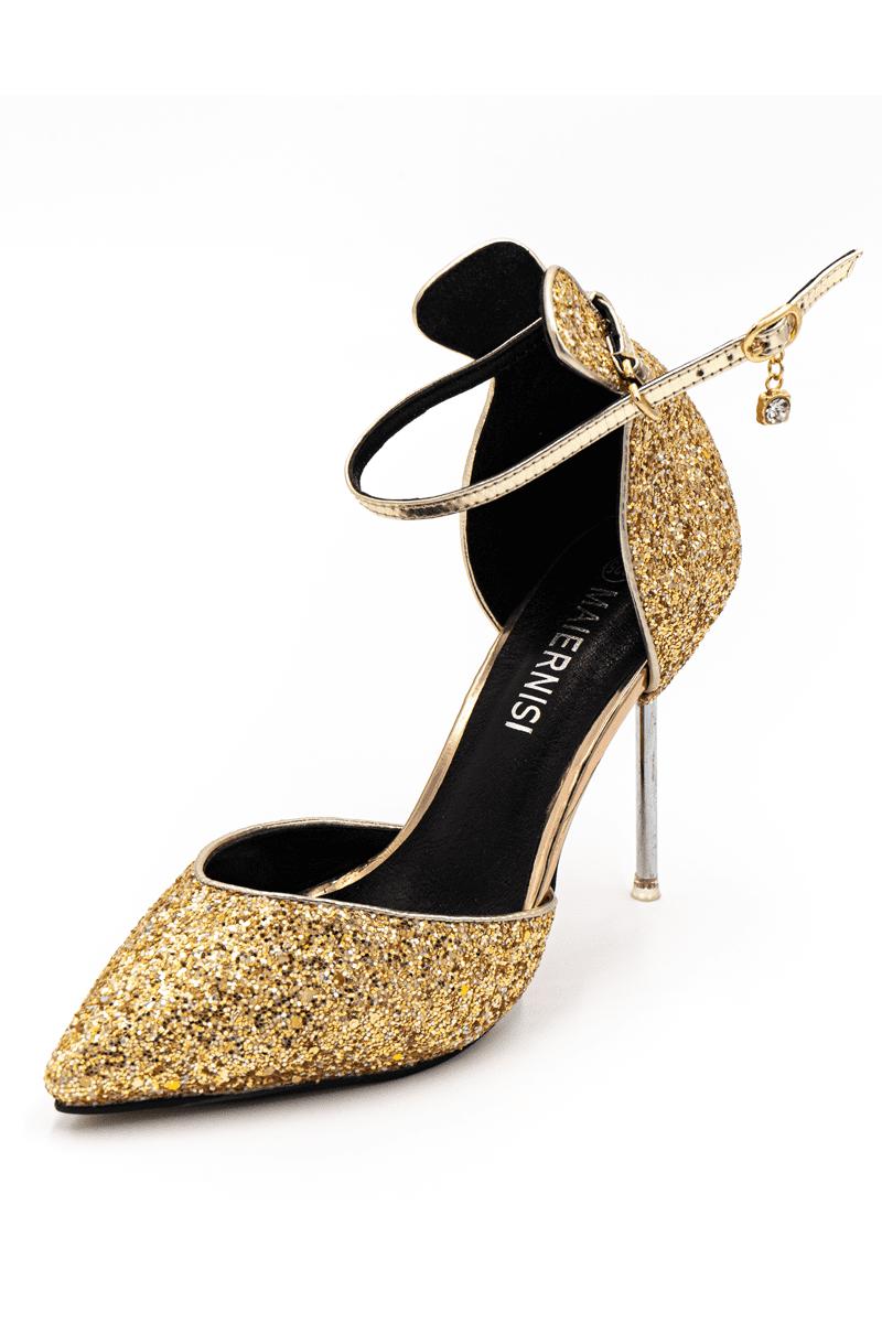 Pailletten High Heels - gold