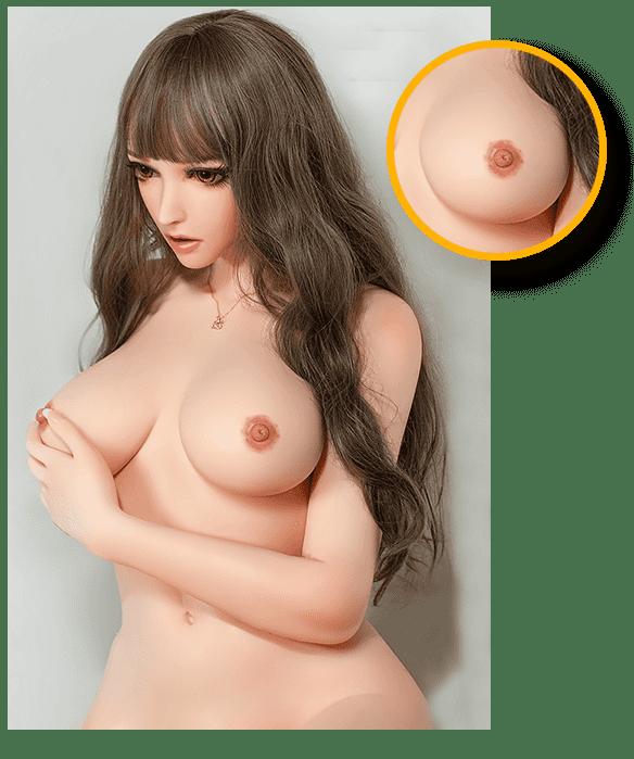 Anime-Sex-Doll-erregende-Brustdetails