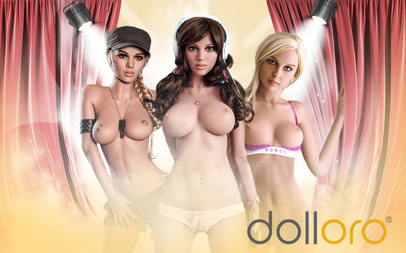 Sex Doll bunte Haare Showroom